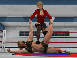 Kim Gorman vs Sarah Love 3  by PhoenixCreed