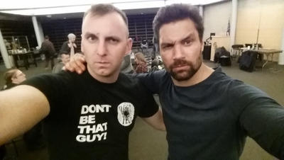 Manu Bennett and I