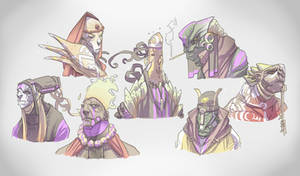 Creature Busts by BrotherBaston