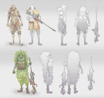 Sniper Character Concepts by BrotherBaston