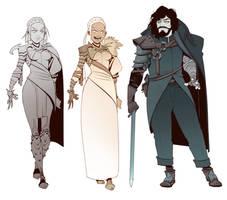 Daenerys Targaryen / Jon Snow Redesigns by BrotherBaston