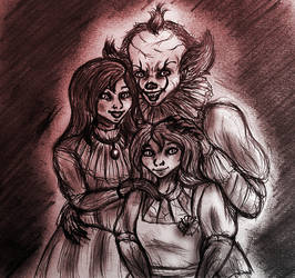 Pennywise, Dorothy, Lory (IT OCs) by Yulia-a-99