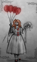 Pennywise (IT) - In The Form Of Lory Gray (IT OC) by Yulia-a-99