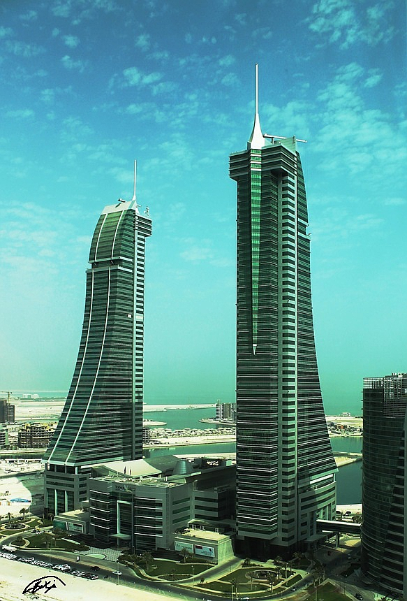 Twin Tower, Bahrain Financial Harbor by Khalid-AlThawadi