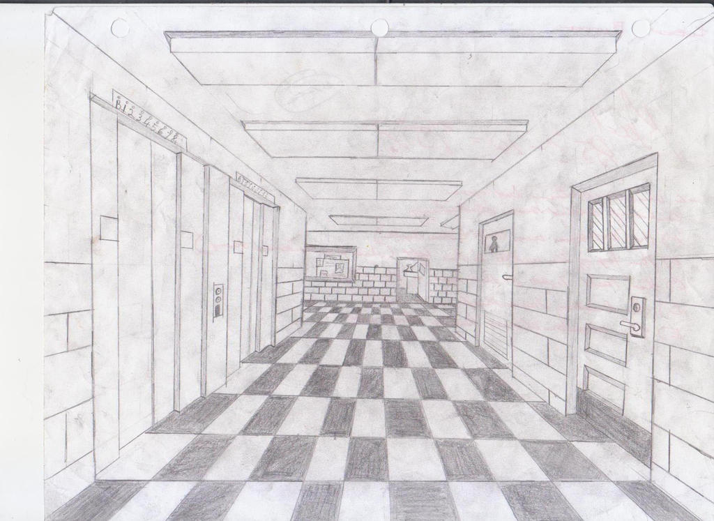 school hallway drawing - 1024×746