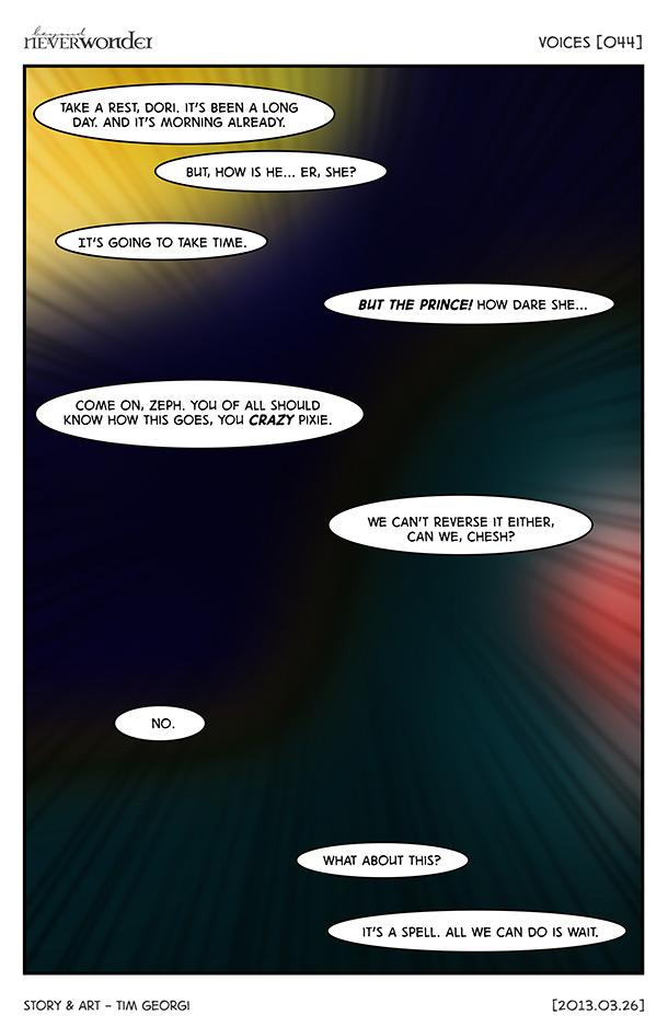 Beyond Neverwonder [044] Voices by tekitsune