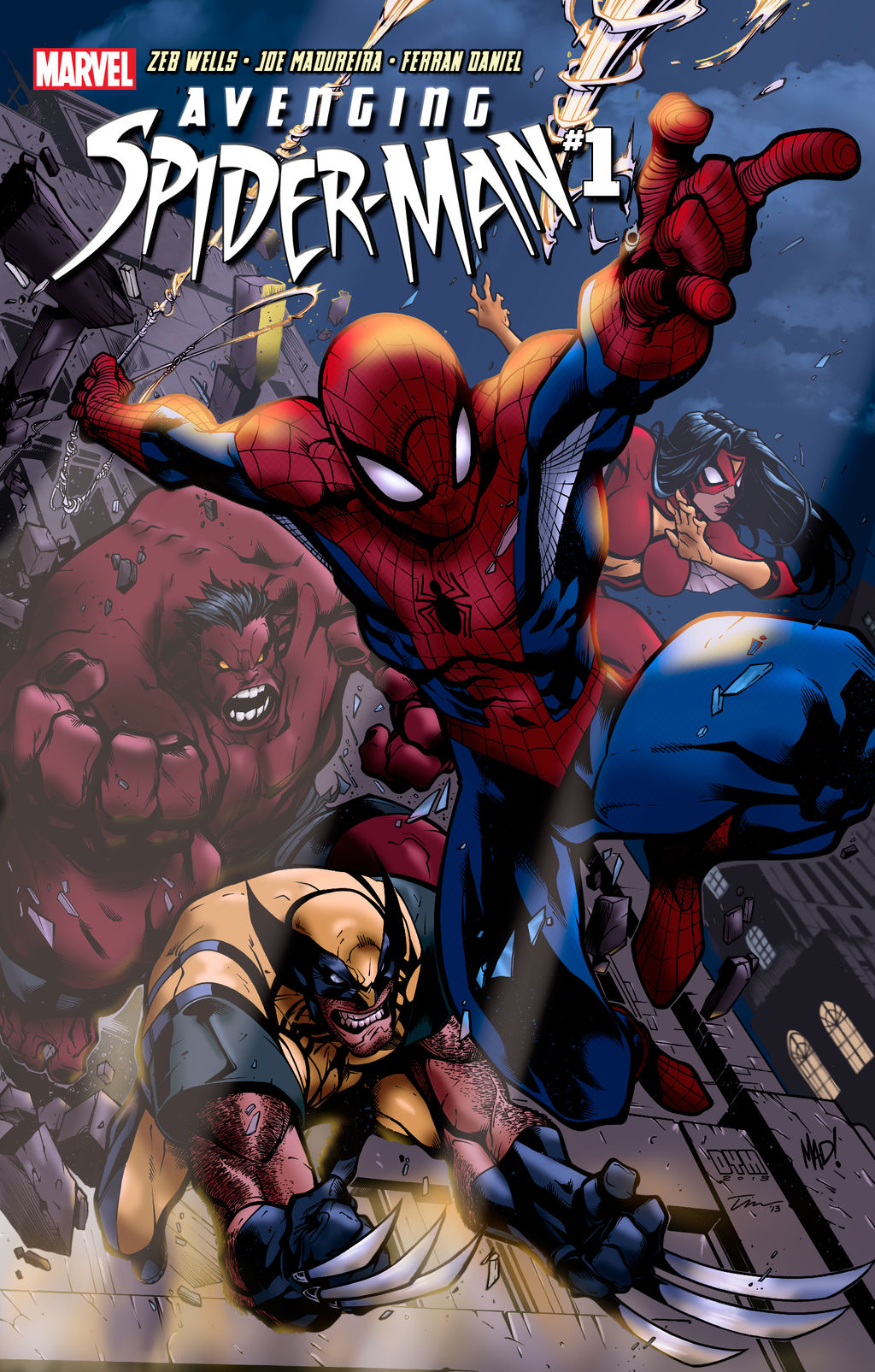 Avenging Spider-Man 1 By Mad! Rev1
