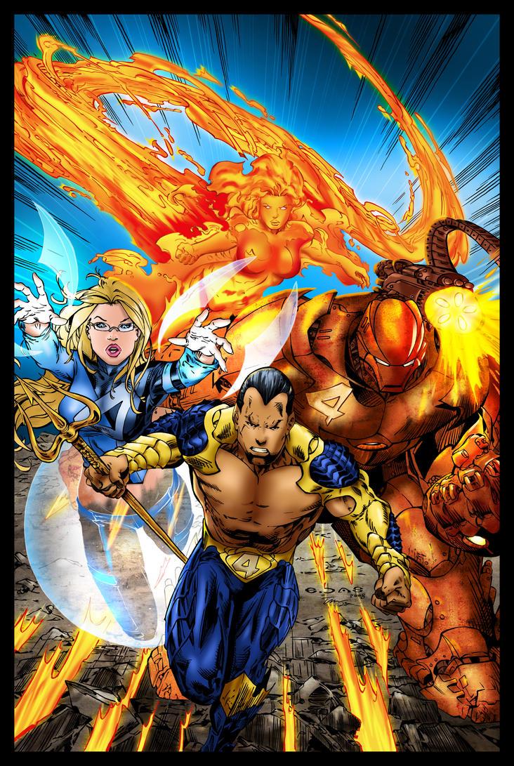 Ultimate X-Men / Fantastic Four Crossover Battle by tekitsune