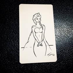 Elsa Sketchcard mini by tekitsune