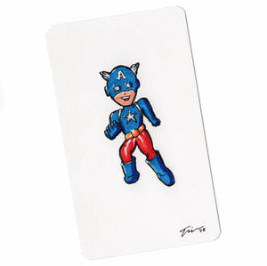 Captain America Sketchcard Mini Color