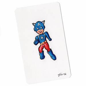 Captain America Sketchcard Mini Color