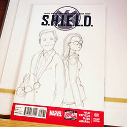 WiP: S.H.I.E.L.D. Philinda Sketchcover by tekitsune