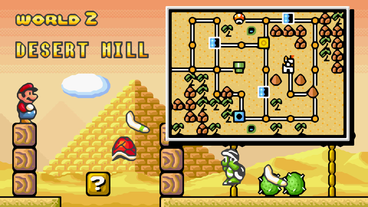 Super Mario Bros 3 16bit World 2 Wallpaper Xbrz By Citanoo On