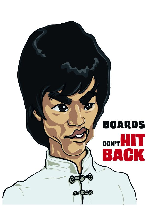 Bruce Lee - Boards don't Hit Back by amartires