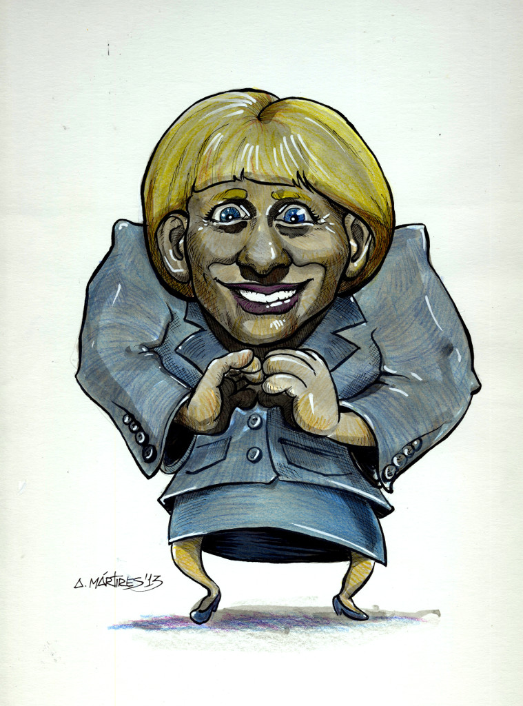 Angela Merkel Caricature by amartires