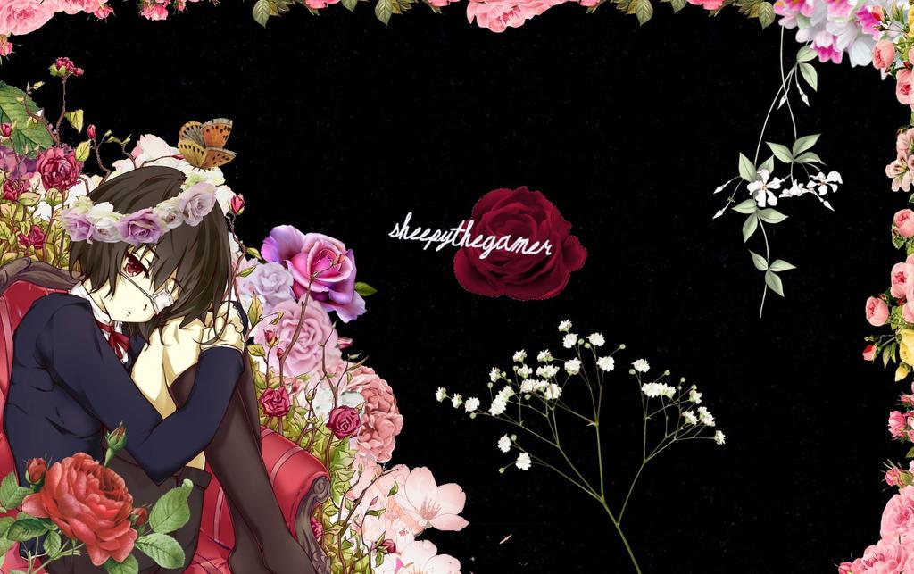 Misaki Mei Flower background edit by SheepyTheGamer