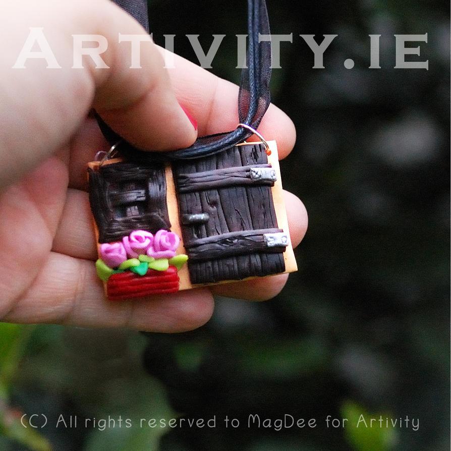 Door to the hut pendant by Mag-Dee