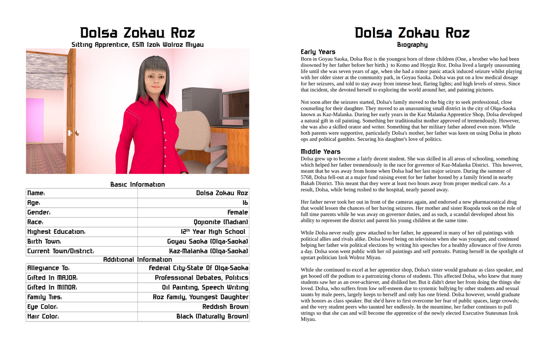 Character Profile - Dolsa Roz by The-Port-of-Riches