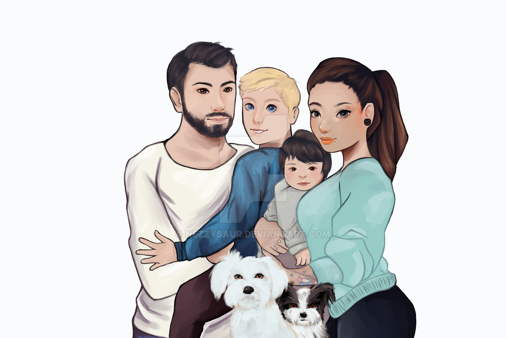 Familie Rose by nezzysaur