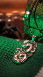 Slytherin inspired pendant