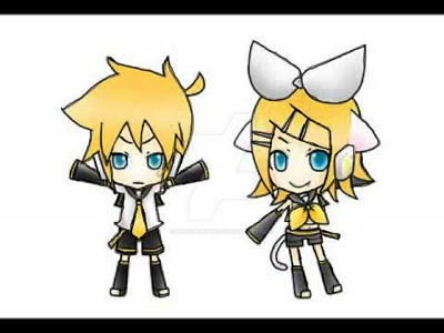 Ren and Lin Kagamine Chibi by MusicBunnyx3
