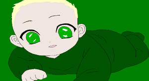 Baby Olivia Malfoy crawling