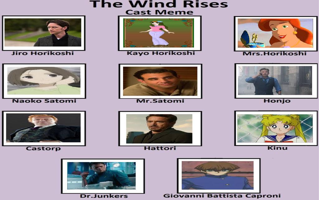 My The Wind Rises Cast Meme By Gxfan537 On Deviantart
