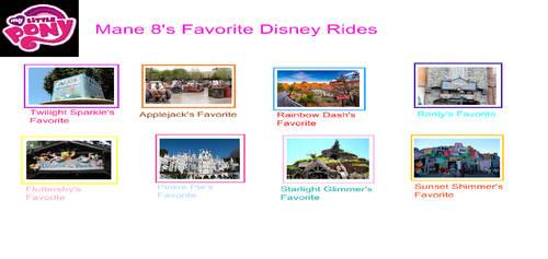 My Mane 8's Favorite Disney Rides Meme by gxfan537
