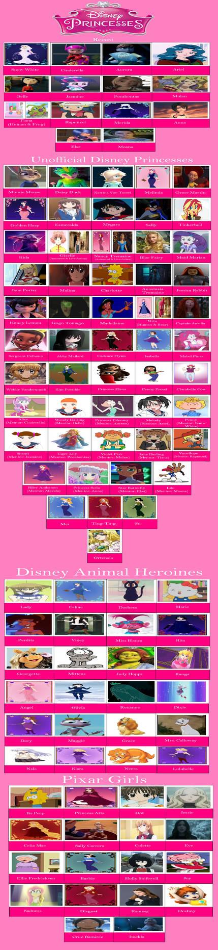 My Disney Princesses Cast Meme by gxfan537