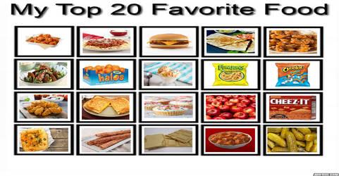 My Top 20 Favorite Food Meme by gxfan537