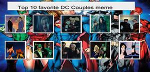 My Top 10 Favorite DC Couples Meme