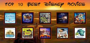 My Top 10 Best Disney Movies Meme
