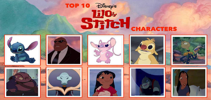 My Top 10 Lilo And Stitch Characters Meme