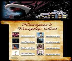 My Krampus's Naughty List Meme