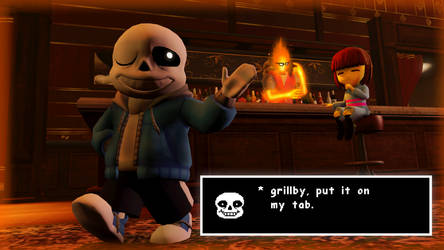 [SFM Undertale] * Grillby, put it on my tab. by Hitsquad617