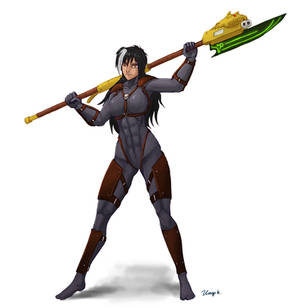 Assassin with glaive
