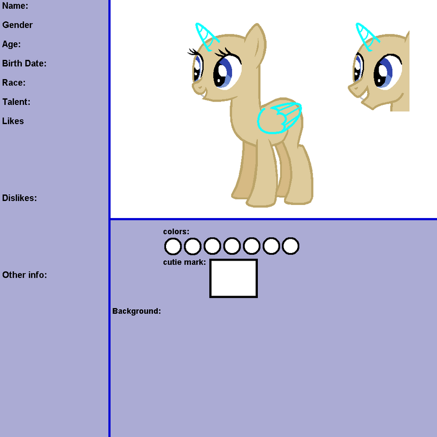 OC Reference Template by pinay4life001 on deviantART