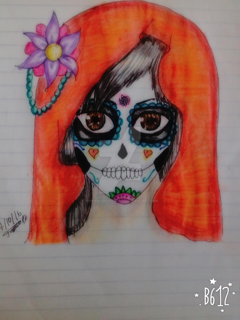 Catrina Dibujo Viejo By Sahianabigailadnil On Deviantart