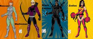Avengers 2.0 Rescue Marksman BlackPanther 3 Zodiac