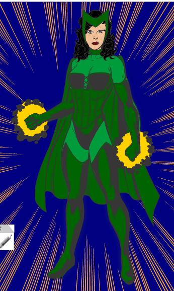 My X Men 2.0 - Emerald Enchantress by goddesshuntress