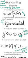 Handwriting Meme by iownfish