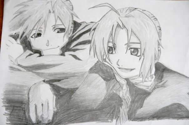 Dessins by Cecilou +1 le 22/12 p5 Edward_and_Alphonse_by_Cecilou_chan