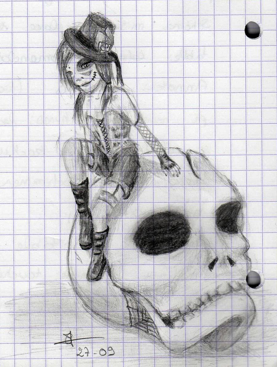 Dessins by Cecilou +1 le 22/12 p5 Pretty_in_punk_by_cecilou_chan-d4b3l1e