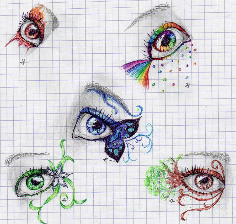 Dessins by Cecilou +1 le 22/12 p5 - Page 2 Fantasies_eyes_by_cecilou_chan-d4h5k34