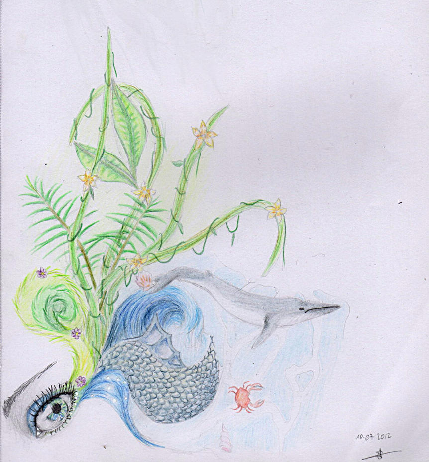 Cecilou-chan - Un crayon à la main Harmony_blue_and_green_by_cecilou_chan-d5ochsj