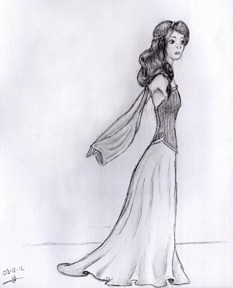 Cecilou-chan - Un crayon à la main Trying_a_new_dress_by_cecilou_chan-d6ekfme
