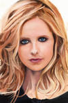 Sarah Michelle Gellar Color Oil Painting
