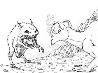 Bone Fan art - Kingdok vs the Red Dragon