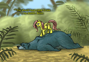 Baloo and Fluttershy (colorized)