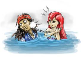 Ariel meets Jack Sparrow